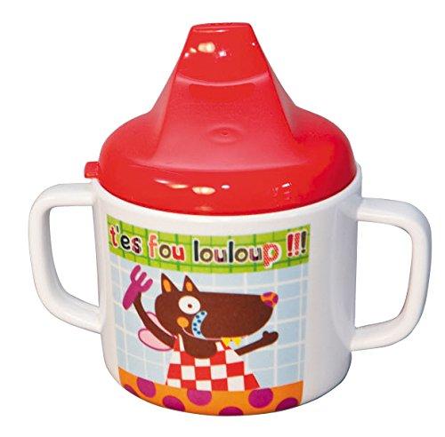 EBULOBO - Mug Mixte Anti Fuite - Louloup - Collection T'es Fou louloup - 10,5 cm de Haut - Lavable Machine