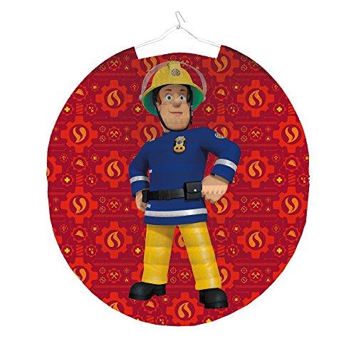Amscan Lampion Feuerwehrmann Sam 23cm Party-Deko Laterne Tisch-Deko Kinder-Geburtstag