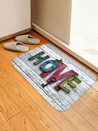 WESG Stampa 3D tappetini Antiscivolo per Cucina Moderna, tappeti assorbenti per Bagno, tappetini per Ingresso Camera da Letto e Soggiorno No.4 40X60cm