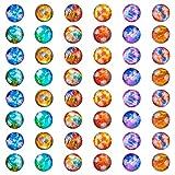 PandaHall 120 unidades de 12 constelaciones media redonda de cristal cabujones de 12 mm con parte trasera plana y horóscopo cúpula gemas para foto cameo colgante de joyería artesanías scrapbooking