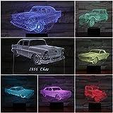 Classic Night Night Light LED 3D Illusion Mesita de noche Lámpara Cambio de color Niños Regalo para niños Novedad Iluminación Lámpara de mesita de noche para automóvil Dormitorio