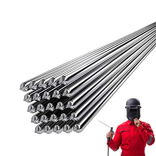 Stainless Steel Welding Rod - Solution Welding Flux-Cored Rods Low Temp Welding rods for All Metal Pure Tin Aluminum 50cm Wire Filler (2.0mm 20Pcs)