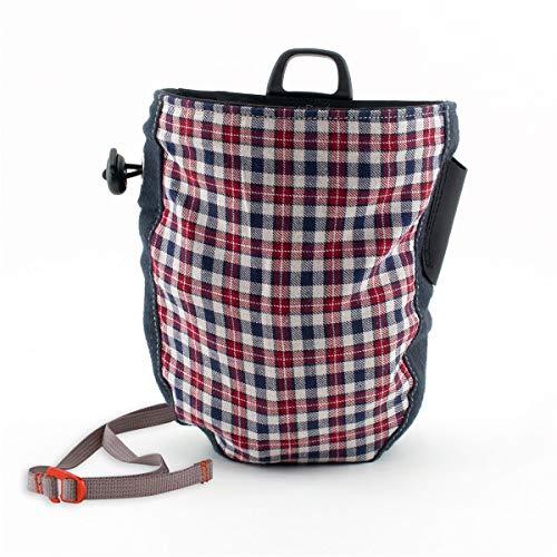Chillaz Checkered Chalkbag, red/Blue Glencheck