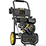 BLUBERY 3200 PSI Gas Pressure Washer, 2.4 GPM High Power Washer, High Pressure Hose&Soap Tank, 5 Adjustable Nozzles, CARB Compliant