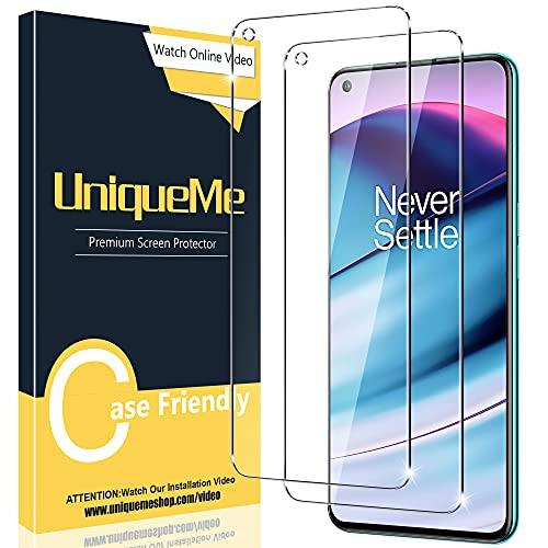 [2 Pack] UniqueMe Compatible con OnePlus Nord 2 5G / Nord CE 5G Protector de Pantalla, Vidrio Templado [9H Dureza] HD Film Cristal Templado