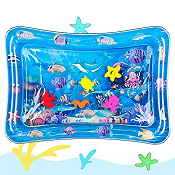 Hitituto Tummy Time Baby Water Mat Inflatable Baby Play Mat Activity Center for Infant Baby Toys 0 to 24 Months Baby Gifts for Newborn Boys Girls