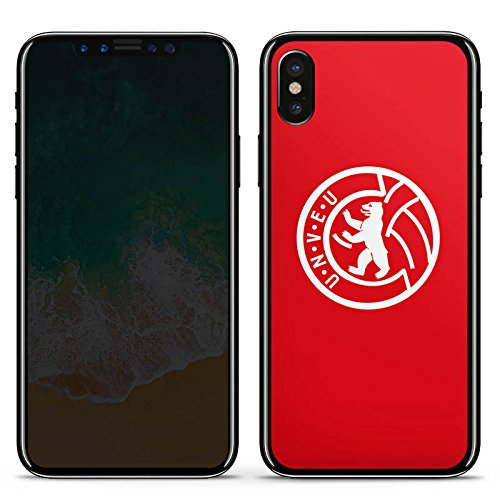 DeinDesign Apple iPhone X Folie Skin Sticker aus Vinyl-Folie Aufkleber 1. FC Union Berlin Fussball Fanartikel