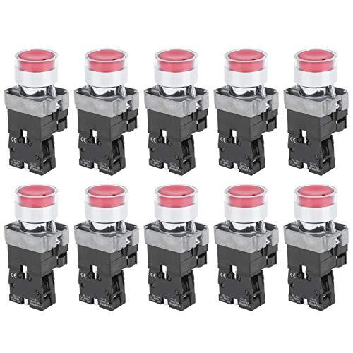 Interruptor de botón de Alta sensibilidad NC 10 Piezas Plano con reinicio automático para Uso Industrial(220V)