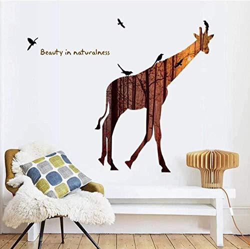 3D long deer bird Vinyl Home Decor Art Decals DIY Wallpaper decoration For Kids Rooms Wall Stickers