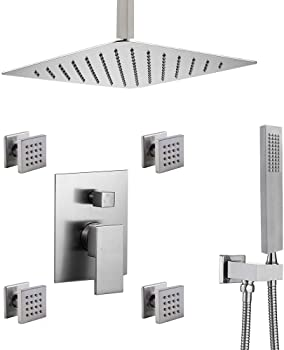 Enga Set Brushed Nickel Shower Faucet