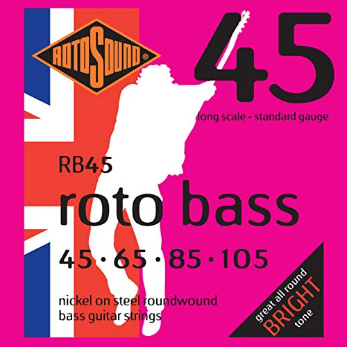 Rotosound Nickel Standard Light Gauge Roundwound Bass Strings (45 65 85...