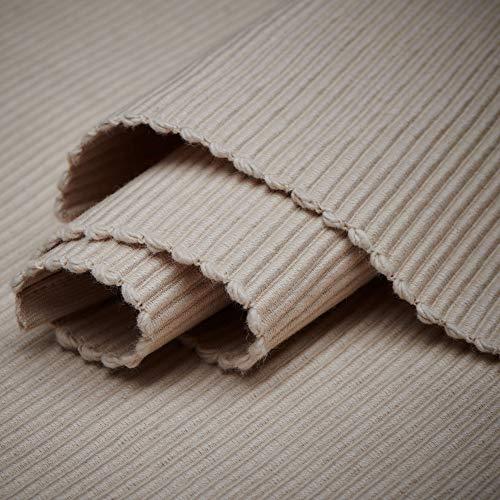 LINUM Uni Tischläufer, Baumwolle, Warmes Beige, 45 x 150 cm