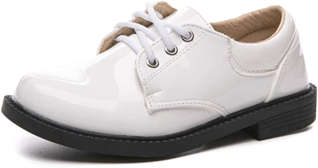 Je-Gou Kids Boy's Patent Leather Lace-Up Dress Oxford Shoes(Toddler/Little Kid/Big Kid)