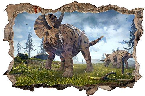 Triceratops Dinosaurier Dino Urzeit Wandtattoo Wandsticker Wandaufkleber D0572 Größe 70 cm x 110 cm