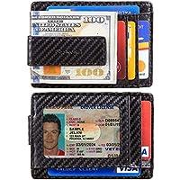 Casmonal Money Clip Slim Minimalist Front Pocket Mens Wallet (Premium Carbon Fiber Black)