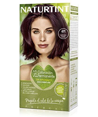 Naturtint   Coloración sin amoniaco   100% cobertura de canas   Ingredientes vegetales   Color natural y duradero  4M Castaño Caoba   170ml