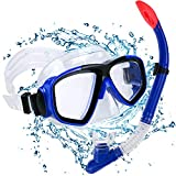 Set para Snorkeling Mascara e Tubo, Kit de máscara y Tubo para Snorkelling, Kit de Snorkeling, Set de Buceo Máscara de Buceo Snorkel Set, Unisex Adulto