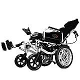 Silla de ruedas eléctrica, Anciano, Coche discapacitado, Anciano, Inteligente, Scooter Portátil Automático y Multifunción, Plegable, Negro