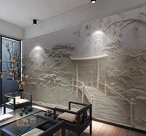Tapete Plakat 3D Wandbild Pavillon Antike dreidimensionale geprägte Tapete 3D Wandbilder Vlies Wandbilder Wanddekoration-350cmx256cm(LxH)