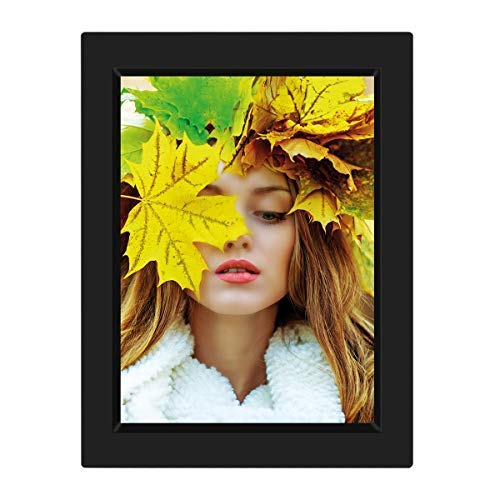 KWANWA Recordable Photo Frame for 5x7 Picture with 15 Seconds' Better Voice Recording, Black Colour
