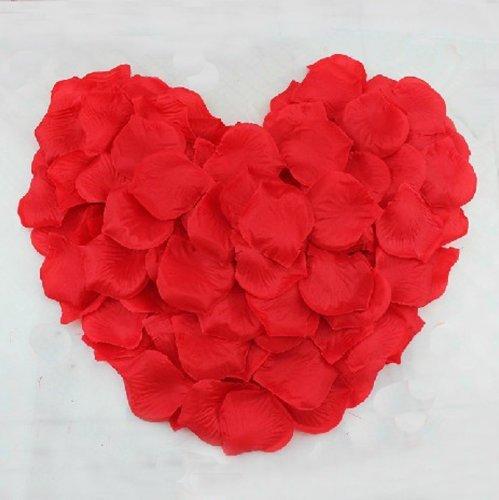 【ノーブランド品】花びら フラワーシャワー バラの造花 『赤=2000枚』 [赤]
