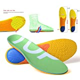 TOPSOLE Sports Shock Absorption Cushioning Insoles for Walking,Running,Hiking, Unisex Full Length Arch Support...