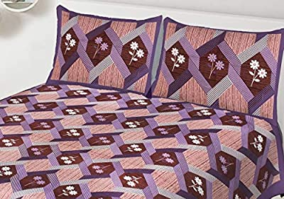 Bedsheet Jaipiri Printed 100% Primium Cotton Double Bedsheet for Double Bed with 2 Pillow Covers Set, King Size Bedsheet, 155 TC from RIDDHI SIDDHI Textiles