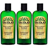 Hemp & Omega 3 Botanical Shampoo, Sulfate Free, SLS Free, for Itchy Scalp, Oily, Thinning, Color Treated Hair, Volumizing for Soft, Healthy, Shiny Hair, with Natural Hemp Seed Oil, Aloe (3-Pack)