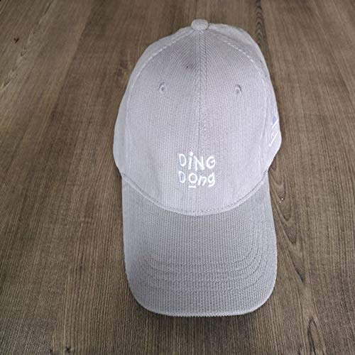 sdssup Hut weibliche Modelle gestickt Cord Bogen Baseball Cap Cap grau einstellbar