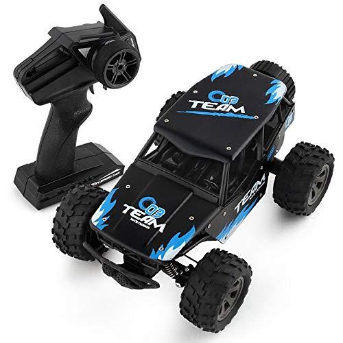 Poooc 1/18 RC deriva de camiones,  2.4Ghz remoto Monster control de carreras de coches 4WD alta velocidad Vehículo de todo terreno eléctrico pie grande orugas RTR Buggy Rock Crawler for adultos de los