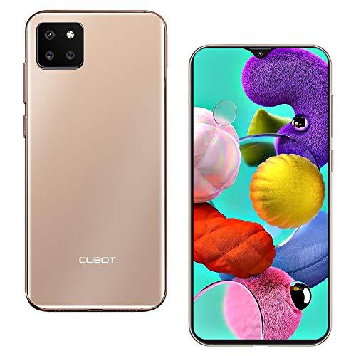 CUBOT X20 Pro Smartphone, 6,3 Zoll, 6GB RAM+128GB ROM, 4000mAh Akku, 20MP/12MP/8MP + 13MP Kamera, Android 9.0, 4G,Face ID(Gold)