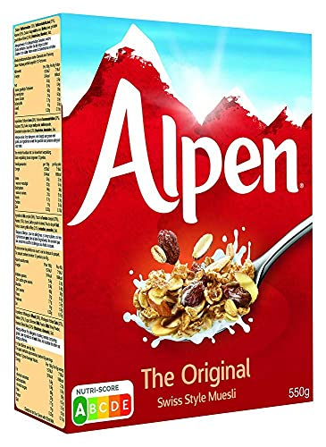 Weetabix Alpen Muesli Originale, muesli in stile svizzero, 2x550 g