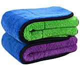 Sinland Microfiber Car Cleaning Cloths Plush Thick Car Waxing Polishing Towels Car Wash