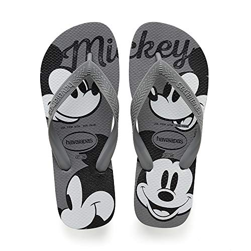 Havaianas Top Disney, Chanclas Unisex Adulto, Multicolor (Steel Grey/Steel Grey), 33/34 EU