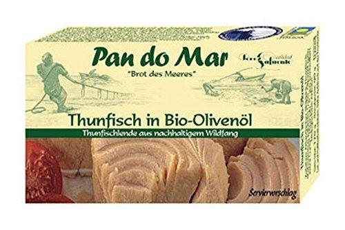 10er-VE Thunfisch in Bio Olivenöl 120g Pan do Mar