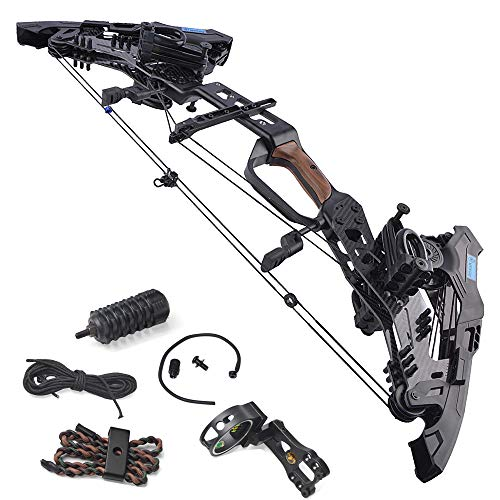 ZSHJGJR Archery Compound Bow Dual-use for Arrows and Steel Ball Hunting Catapult Bows 21.5-80lbs Adjustable Right Hand for Outdoor Hunting Fishing (Bow Set)