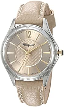 Salvatore Ferragamo Time Bisque Dial Diamond Ladies Watch