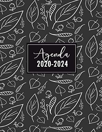 Agenda 2020-2024: Agenda Settimanale Floreale per 5 Anni | Agenda giornaliera, Formato A4, 21x27 cm | Agenda Pianificatore Settimanale 54 Mesi | Copertina Flessibile