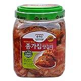 Jongga Mat Kimchi 52.9 oz(1.5kg) Cut Cabbage Kimchi - Imported from Korea - Fresh Naturally Fermented
