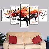 FYZKAY Bilder 5-teilig Leinwandbilder Wandkunst Dekor