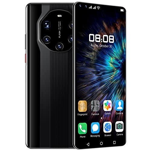 Mate4 0RS Teléfono móvil MTK6889 TELÉFONOS DE CELULARES DE LOS TELÉFONOS DE 10 CORE DE 6,8 pulgadas HD 6000mAH 4G 5G Teléfono 4GB + 64 GB Teléfono Móvil 2 5MP + 50MP ( Color : Black , Size : 4*64GB )