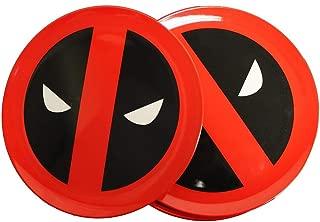 Deadpool Round Icons Plate Set, Melamine, Multi-Colour, 21 x 21 x 2 cm