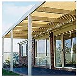 XJJUN Beschattungsnetz, Wärmedämmung Kühlung Sichtschutz 90% Anti-Ultraviolett-Filterlicht, Für Gärten, Pavillons, Pergola (Color : Beige, Size : 1x2m)