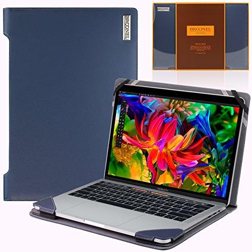 Broonel - Profile Series - blau premium leder Case / Cover Trage Tasche / speziell für das MacBook pro 2017 13 inch with Touch bar and pro retina display