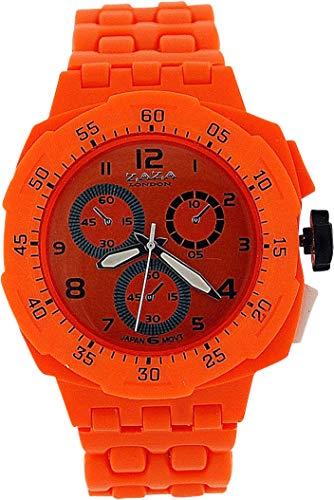 ZAZA London PL342 orange - Orologio da polso, cinturino in plastica colore arancione