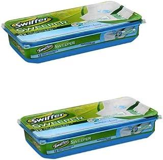 Swiffer Sweeper Wet Mopping Pad Refills for Floor Mop Open Window Fresh Scent 12 Count - Pack 2