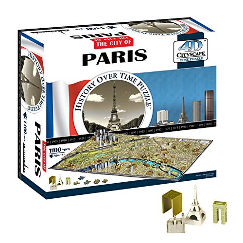 4D Cityscape Paris Time Puzzle (1100 pieces)