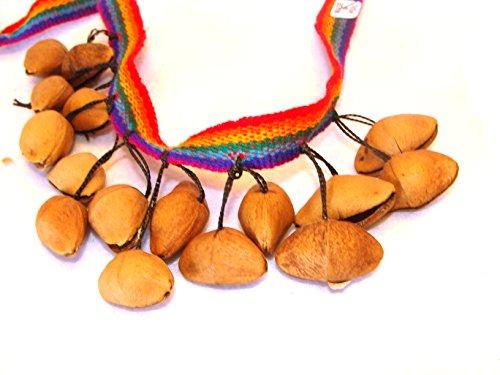 Amazon Jungle Rattle Set of Two Seedd Rattler Ankle Wrist Tie Dancers Sanyork Fair Trade (TM) Artisan Made Peru