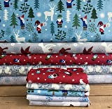 Stoffbündel für Weihnachten, Zwerge, Waldblau, leuchtet