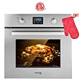 Single Wall Oven, GASLAND Chef ES609DS 24' Built-in Electric Single Wall Oven, 9...